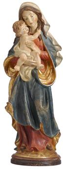 Echtg.(Alt) Alt-Antike Bemalung auf krakeliertem Kreidegrund und mit Echtgold vergoldet.